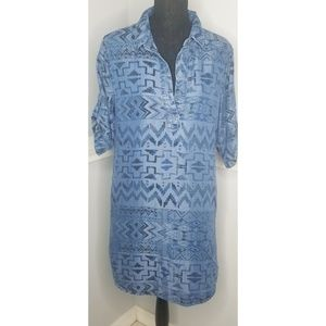 Philosophy chambray Aztec print dress